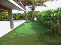 Artificial grass lawn backyard putting green golf greens practice backyard landscape ideas landscaping