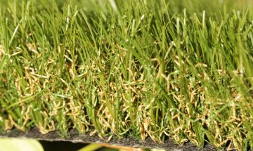 Synthetic grass fake turf lawns landscape olive green brown thatching multi-colored realistic backing drainage artificial