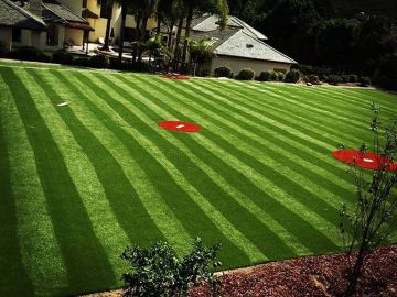 Light dark green stripes artificial grass red grass stadium sports fields soccer football multi-purpose fields synthetic turf