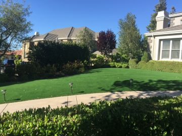 Front yard artificial grass synthetic lawn fully installed landscape