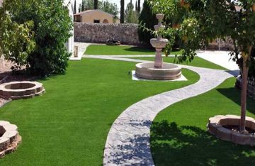 Artificial grass for landscape synthetic lawns backyard front yard green