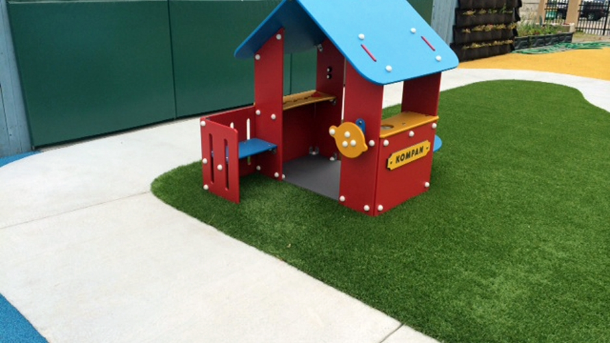Artificial Grass Playground in Austin, Texas