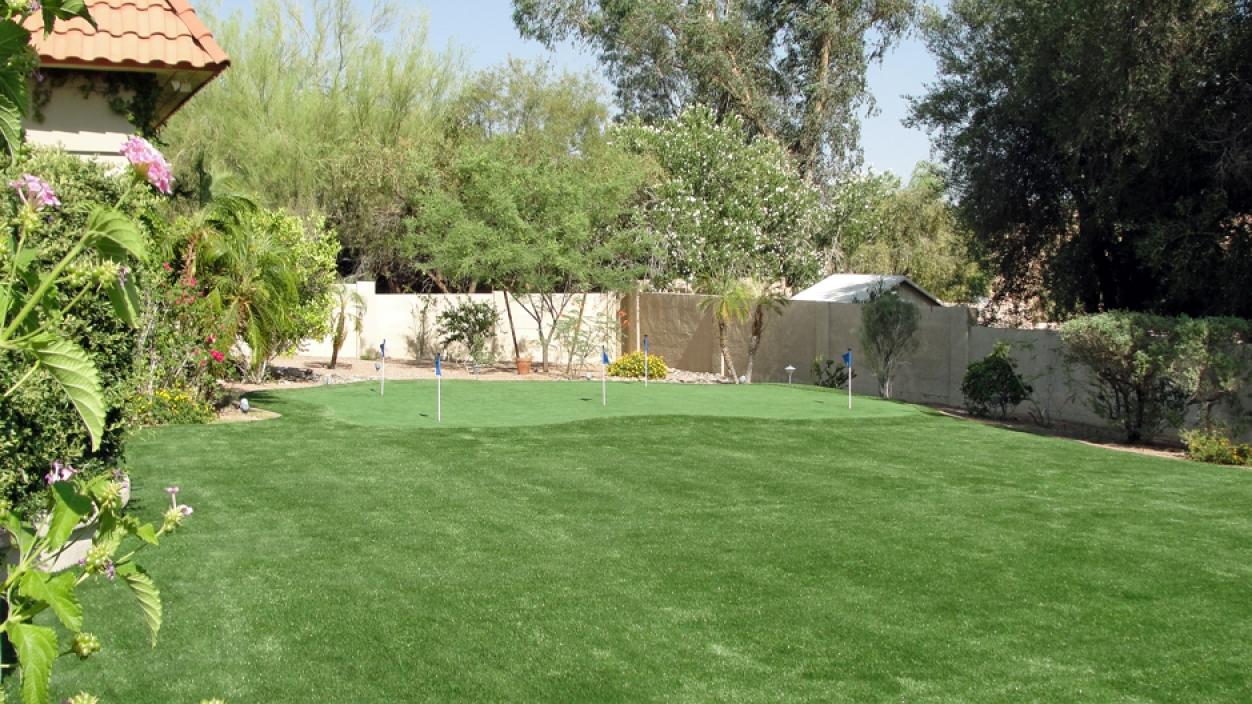 Synthetic Grass Backyard Installaiton in Peoria, Arizona