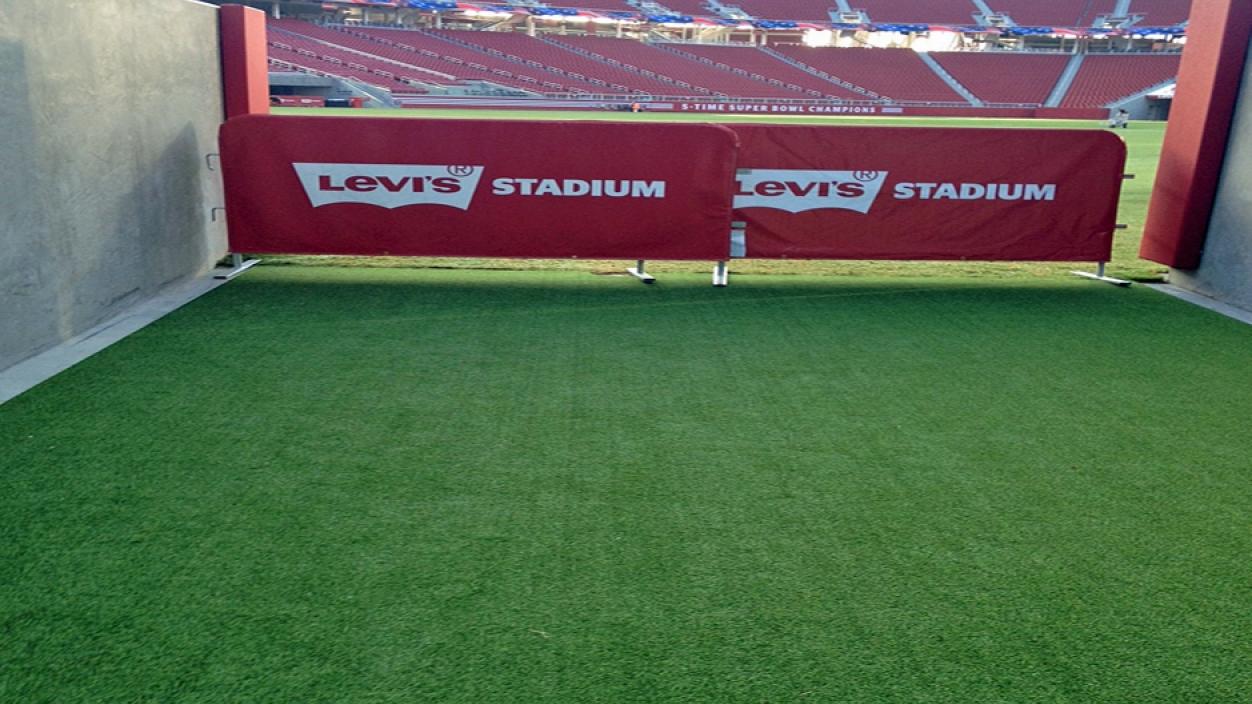 Levis stadium sports Santa Clara California athletic field artificial grass synthetic turf
