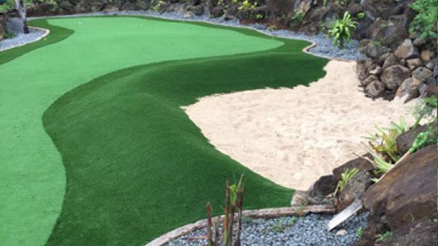 Putting Greens Fake Grass Installation in Stanton, California