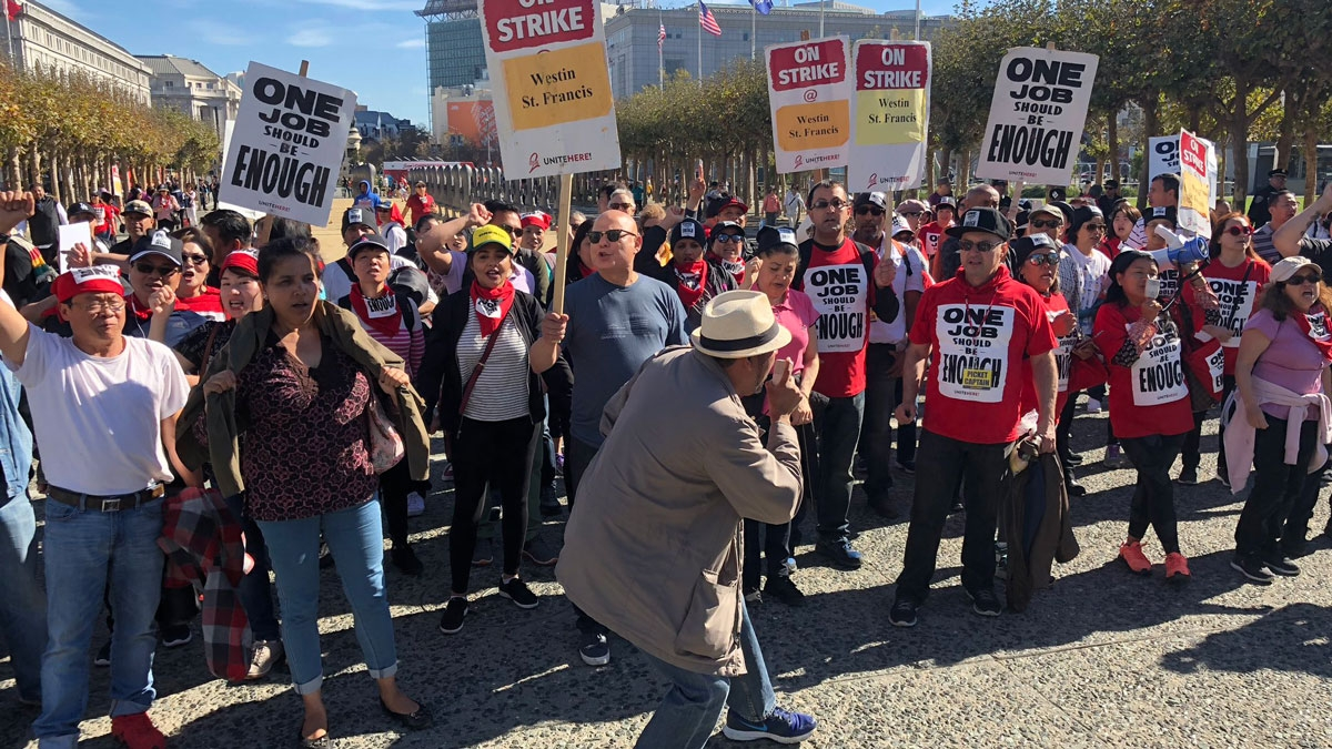 Marriott Strikers Flock to SF City Hall for Special Hearing
