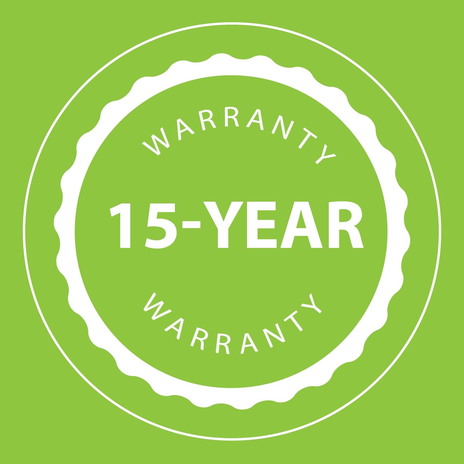 15-Year Warranty