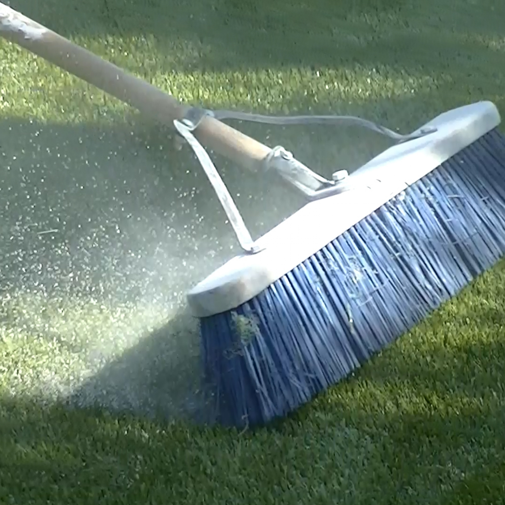 Artificial Grass Installation Maintenance Brooming
