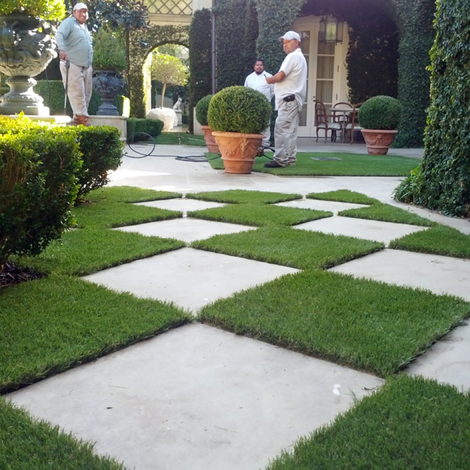 Artificial Grass Installation in Hermosa Beach, California