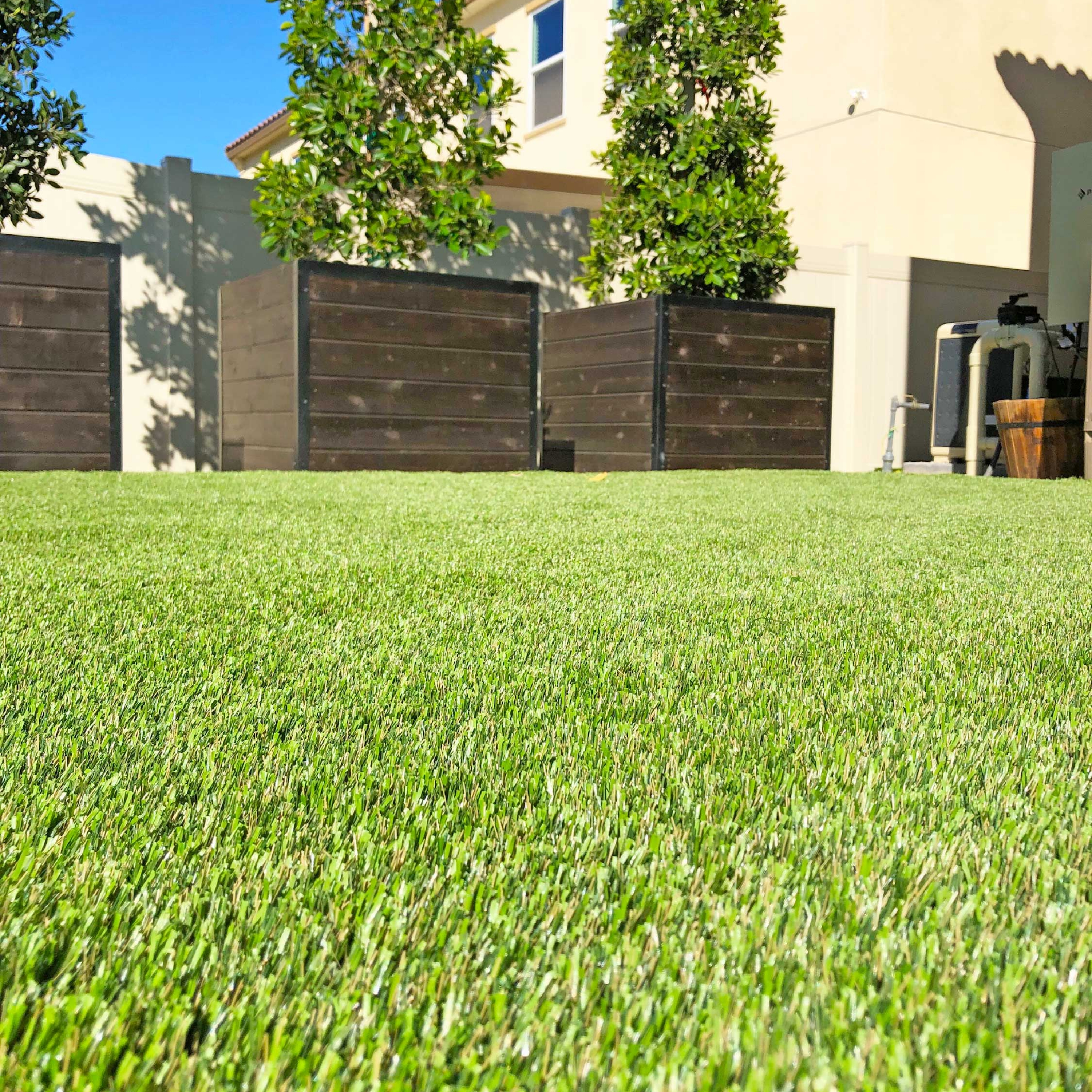 Complete Backyard Renovation with Artificial Grass