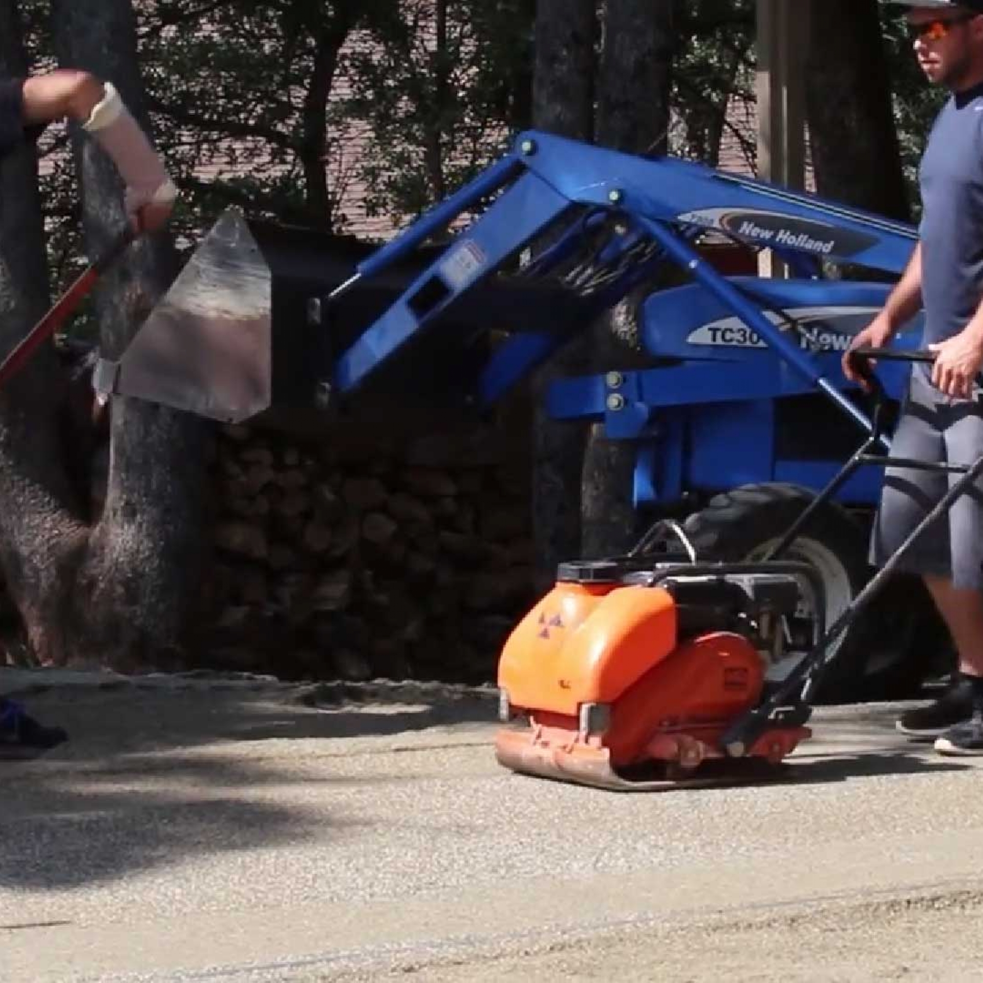 Plate Compactor - Preparing Artificial Turf Base