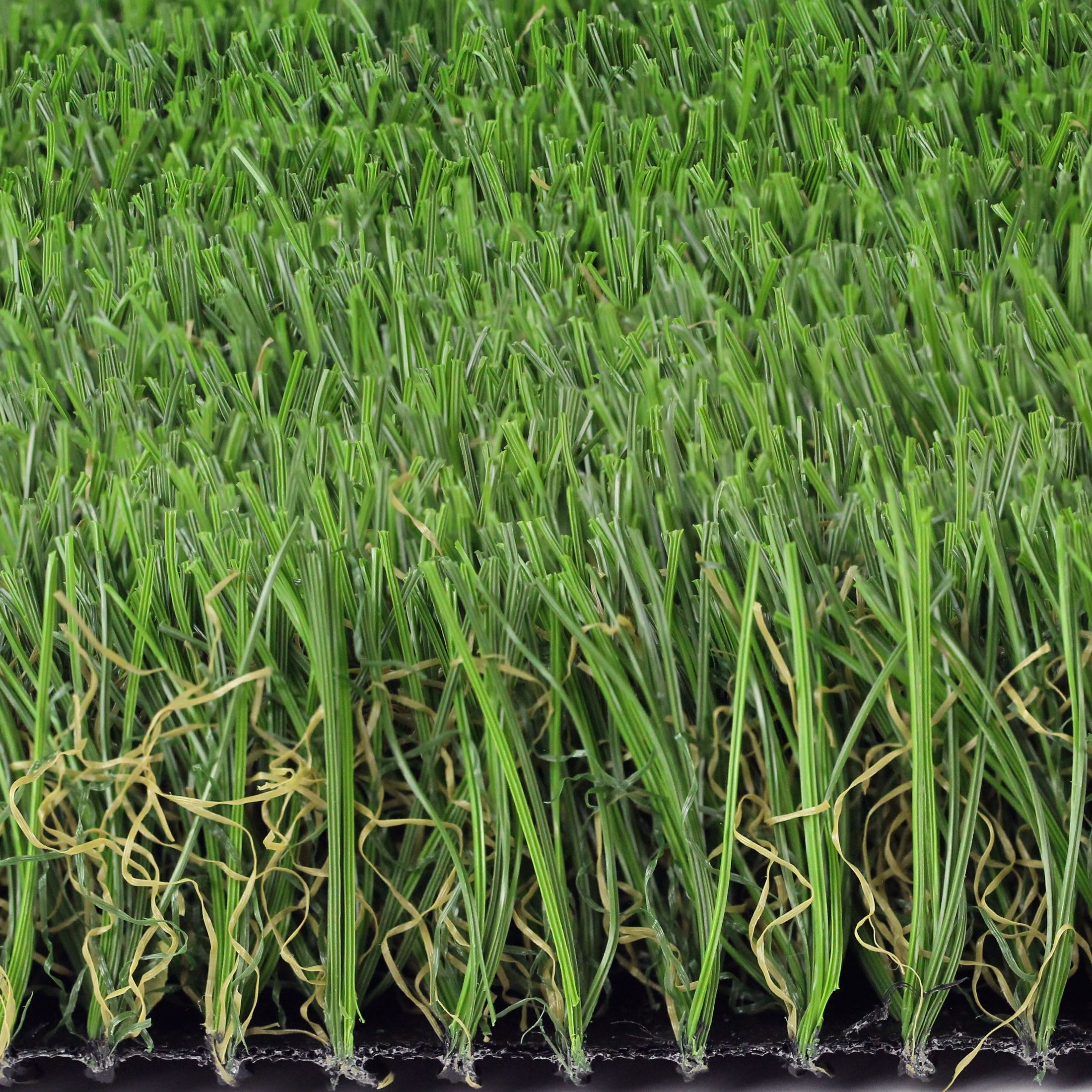 Premium M Blade-60 artificial grass side view closeup synthetic turf thatching m shaped blades