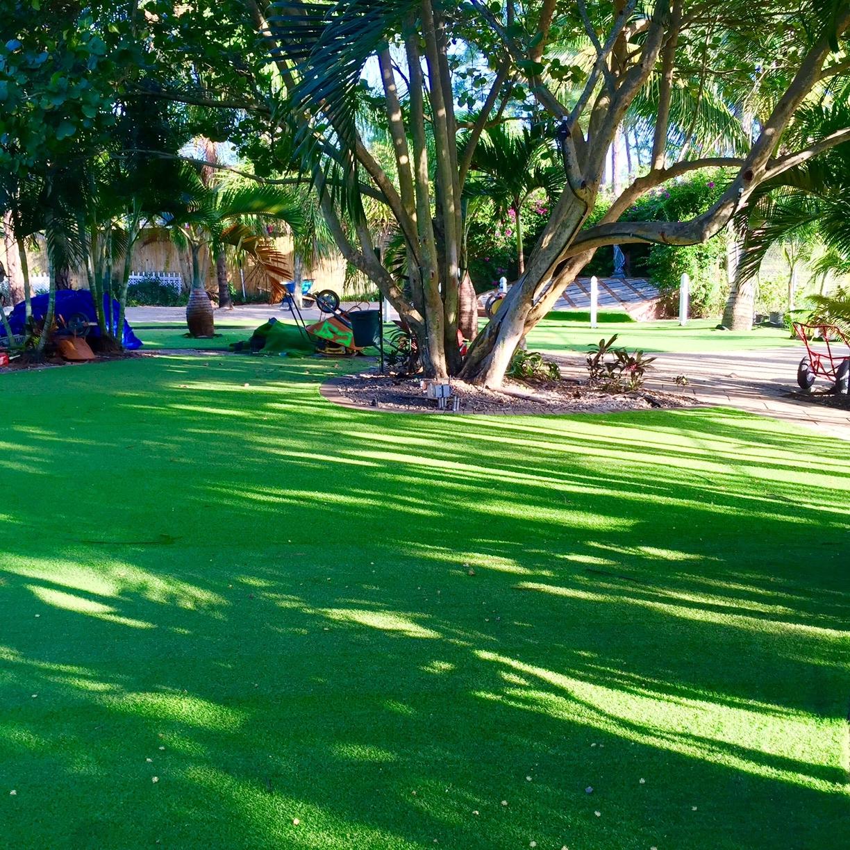 Artificial turf always green lawn large backyard ideas no water or maintenance.