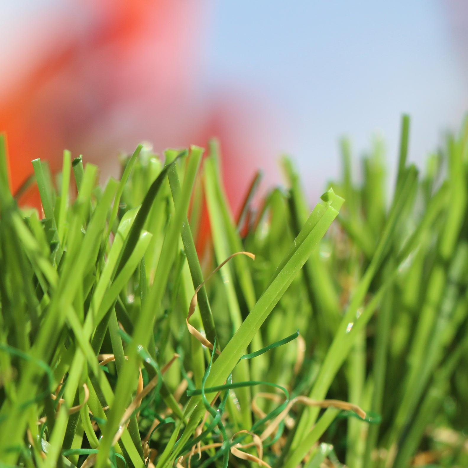 Spring artificial grass 50 oz. green emerald lime