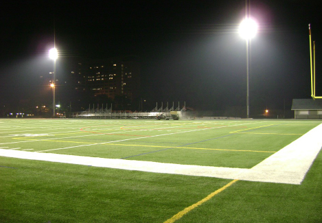 stadium night artificial grass synthetic turf light dark white line