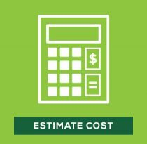 Estimate the cost of materials needed for artificial grass installation