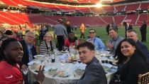 The San Francisco 49ers August 28 2018: an exclusive dinner to kick off the 2018 football season on the field at Levis Stadium