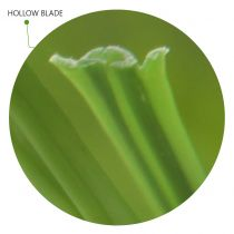Hollow blade artificial grass synthetic turf blades design to keep moisture inside