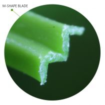 M-shape Blade Artificial Grass synthetic tuf fiber technology microscope