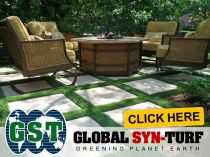Artificial grass, synthetic turf, beautiful backyards, patio, wicker chairs, fake, synthetic, grass, turf.