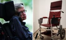 Stephen Hawkings red wheelchair, Simpsons script up for auction