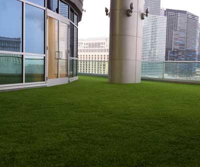 Roof deck patio porch artificial grass