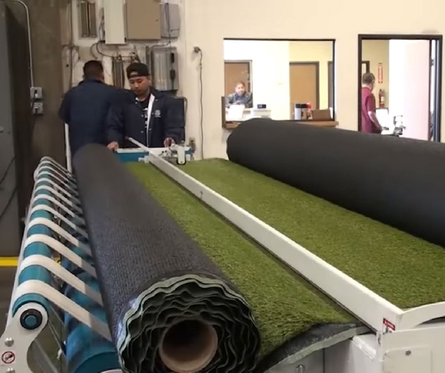 artificial grass roll, green rolls, synthetic grass warehouse