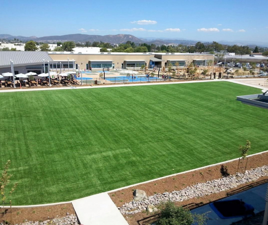 soccer football field artificial grass synthetic turf always green sports complex