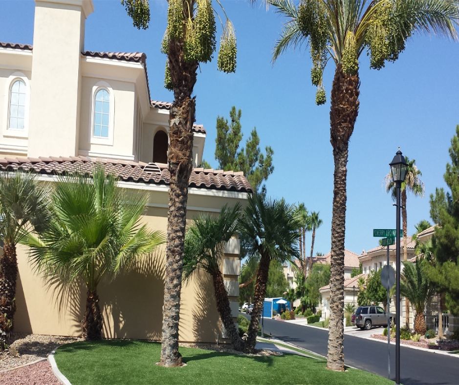 Artificial Turf Front Yard Installation in Las Vegas, Nevada