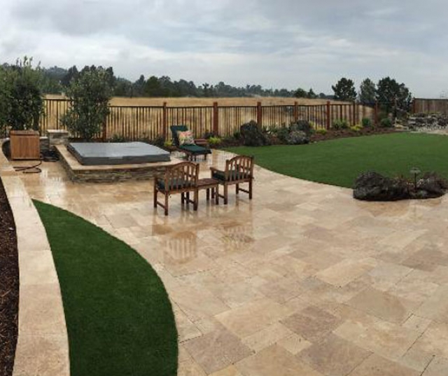 Backyard Landscaping Ideas Synthetic Grass Glendora, California