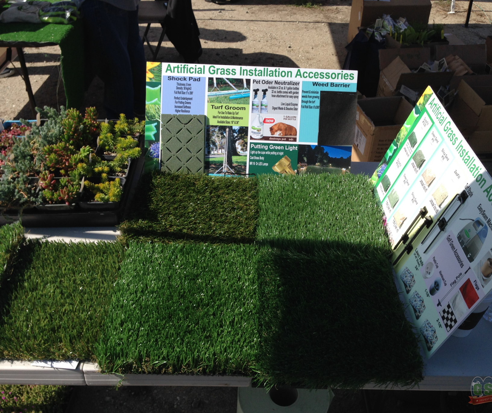 Global Syn-Turf Showcases Drought-Tolerant Products at Carmel Valley Garden Show