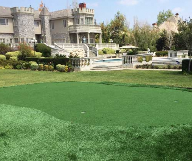 Golf practive putting greens artificial grass