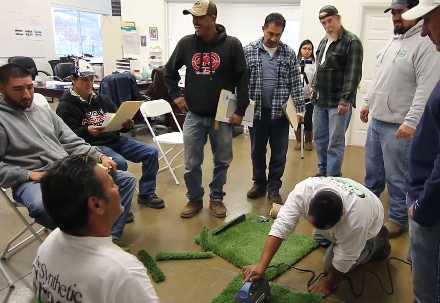 Artificial grass seminar contractors