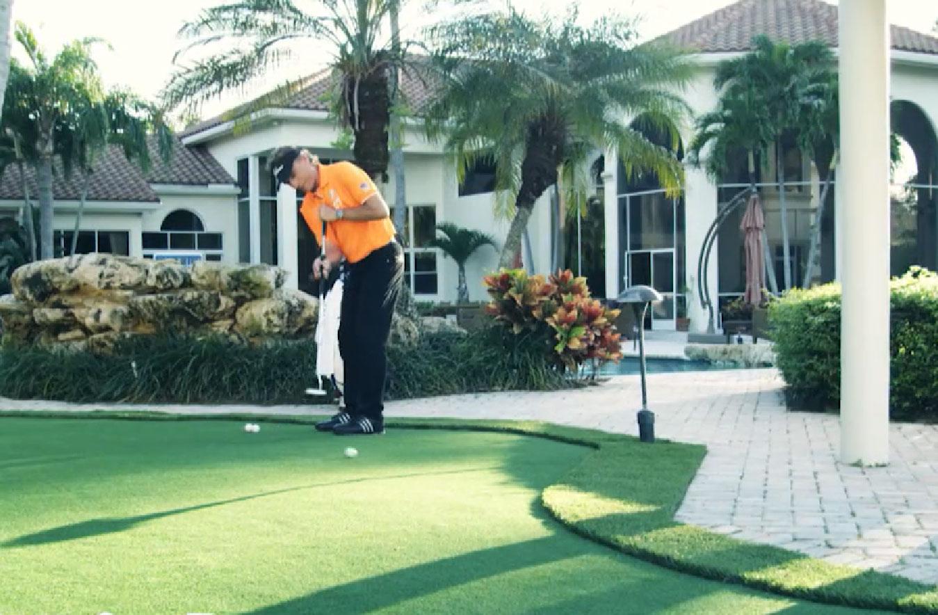 Bernhard Langer backyard putting greens golf