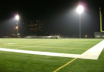 stadium night artificial grass synthetic turf light dark white line