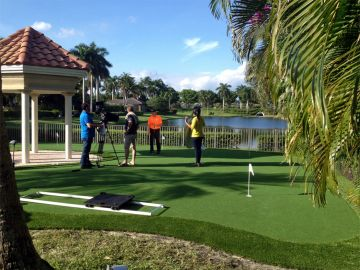 Synthetic Putting Green Installation Palm Beach Florida