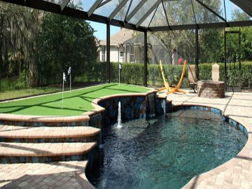 Artificial Putting Green Installation Kissimmee Florida