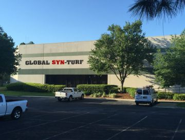 Artificial Grass - New Global Syn-Turf Distribution Center in Jacksonville, Florida