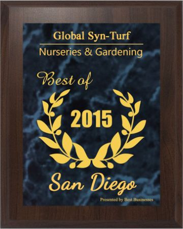 Artificial Grass - Global Syn-Turf Receives 2015 Best Businesses of San Diego Award