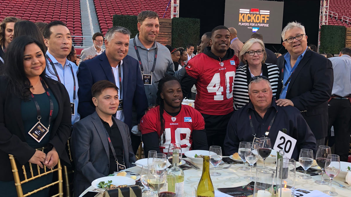 The San Francisco 49ers: an exclusive dinner to kick off the 2018 football season on the field at Levis Stadium August 28