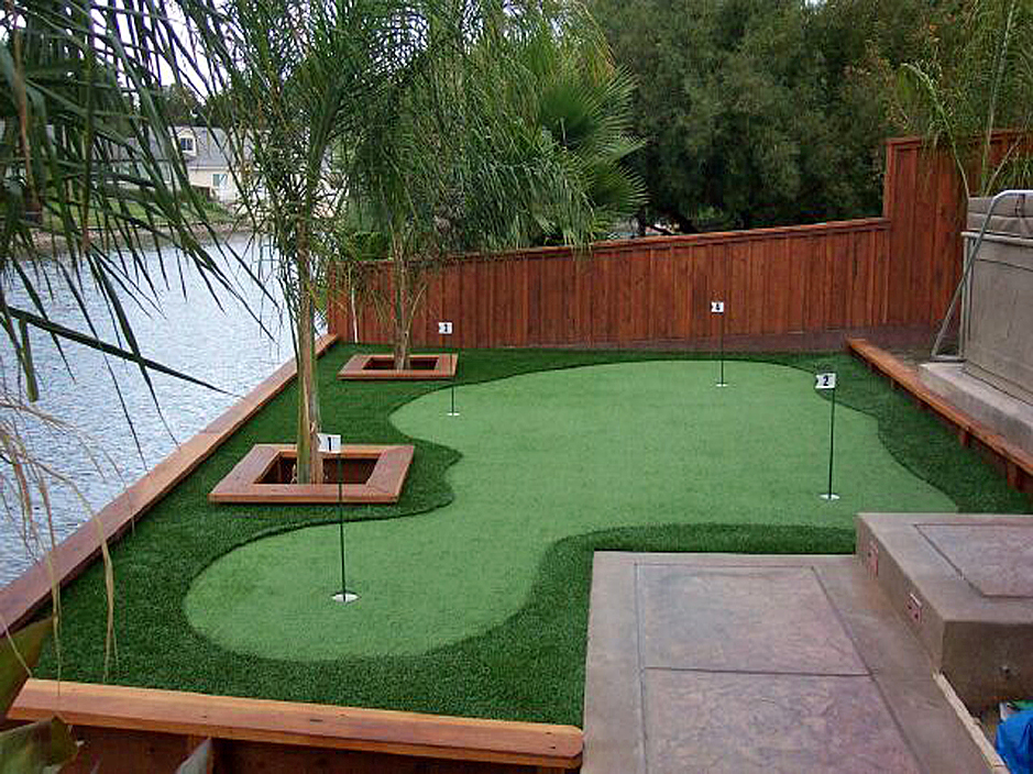 Putting Green River Walk Practice Golf in Home Backyard ... on Artificial Turf Backyard Ideas id=23273