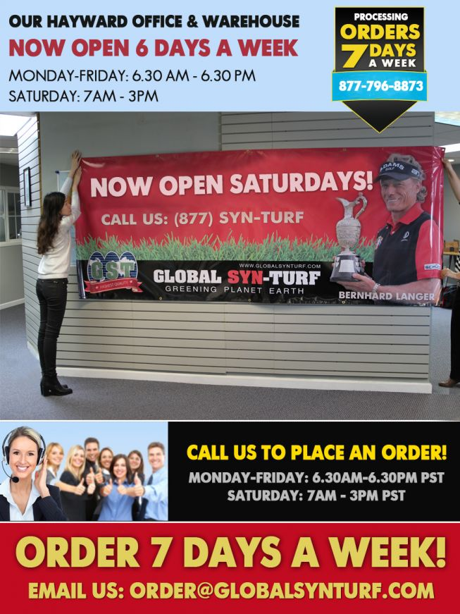 EXTENDED HOURS! Now Open Saturdays!