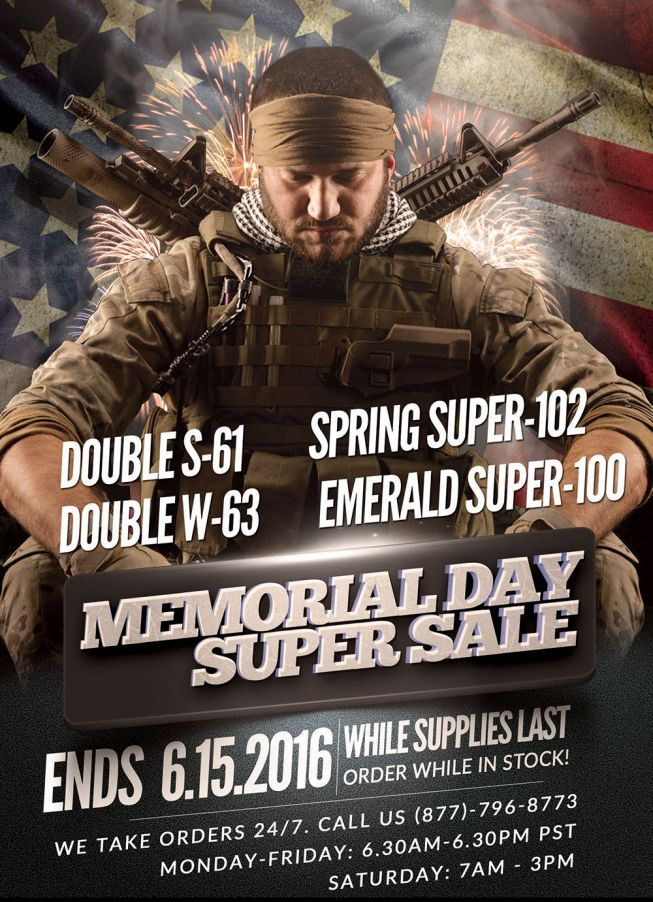 Memorial Day Super Sale 2016!