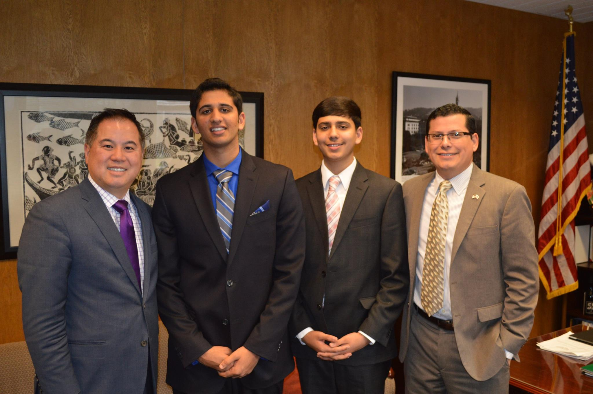 Brothers Arijeet and Rajvarun Grewal, students in Hanford, CA