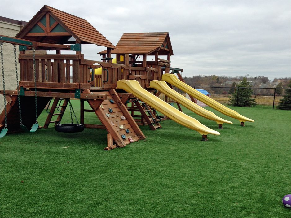 Playground Synthetic Grass Installation In Minneapolis