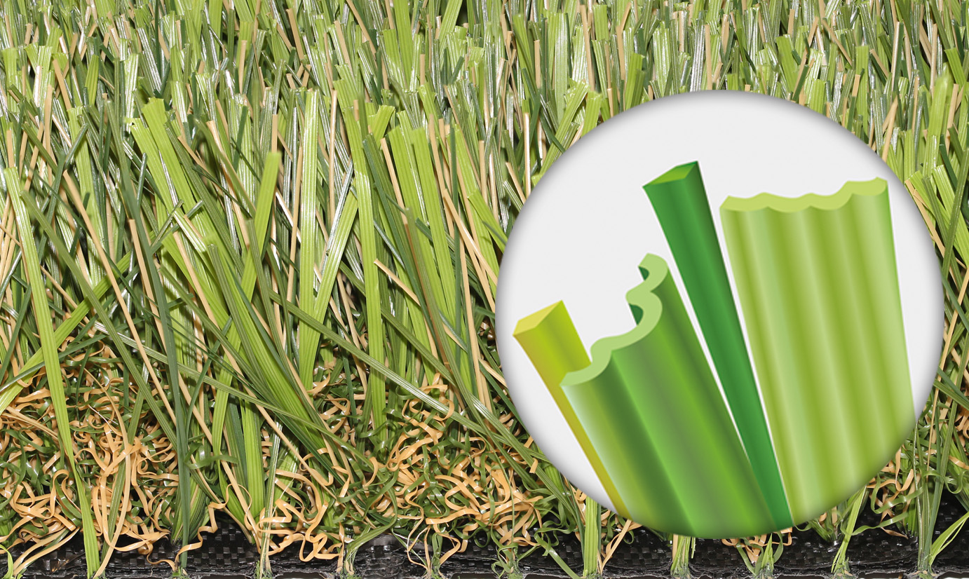 Super Natural-60 authentic looking grass exclusively designed four-color multi-blades synthetic turf