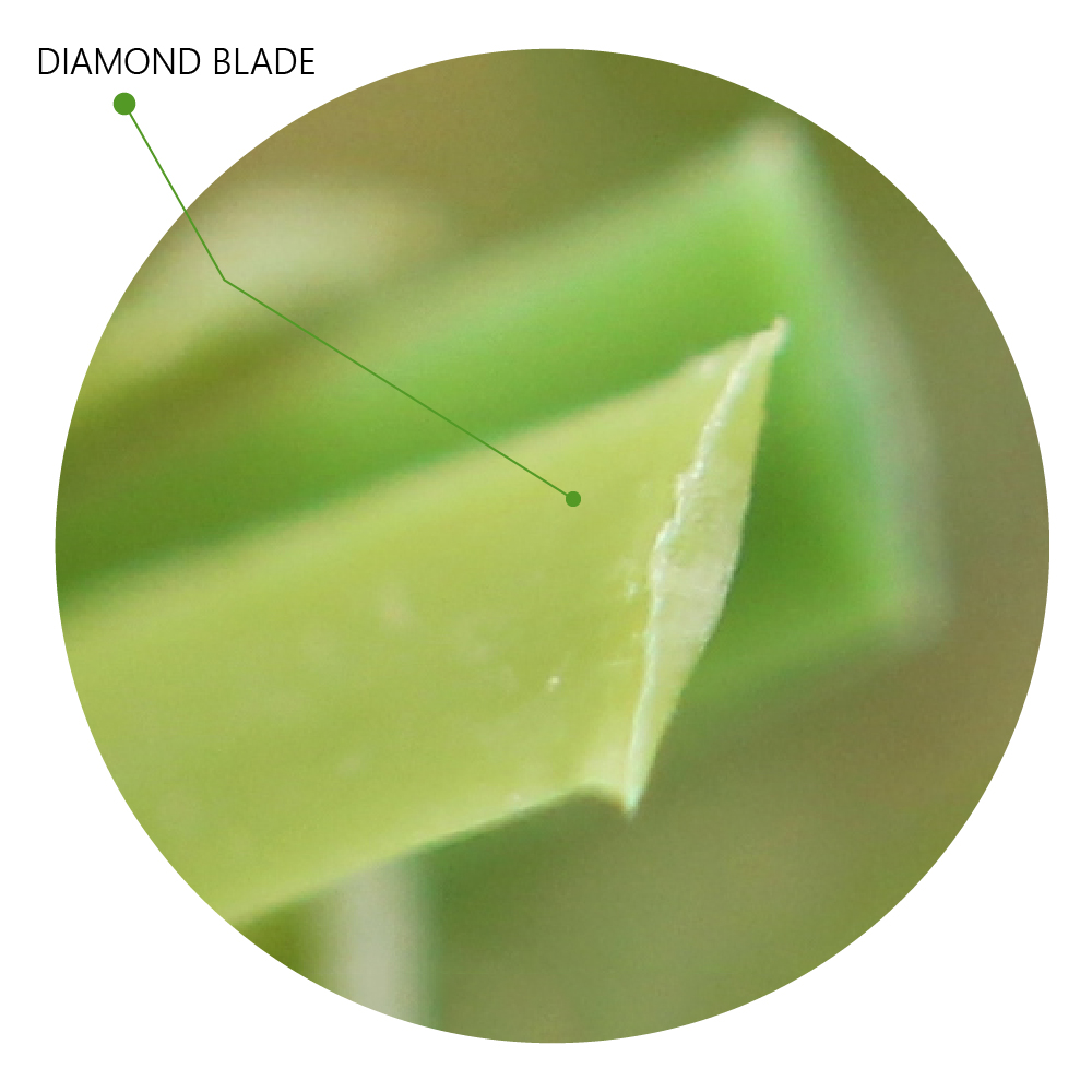 Diamond Blade Artificial Grass unique blades design realistic natural look and feel