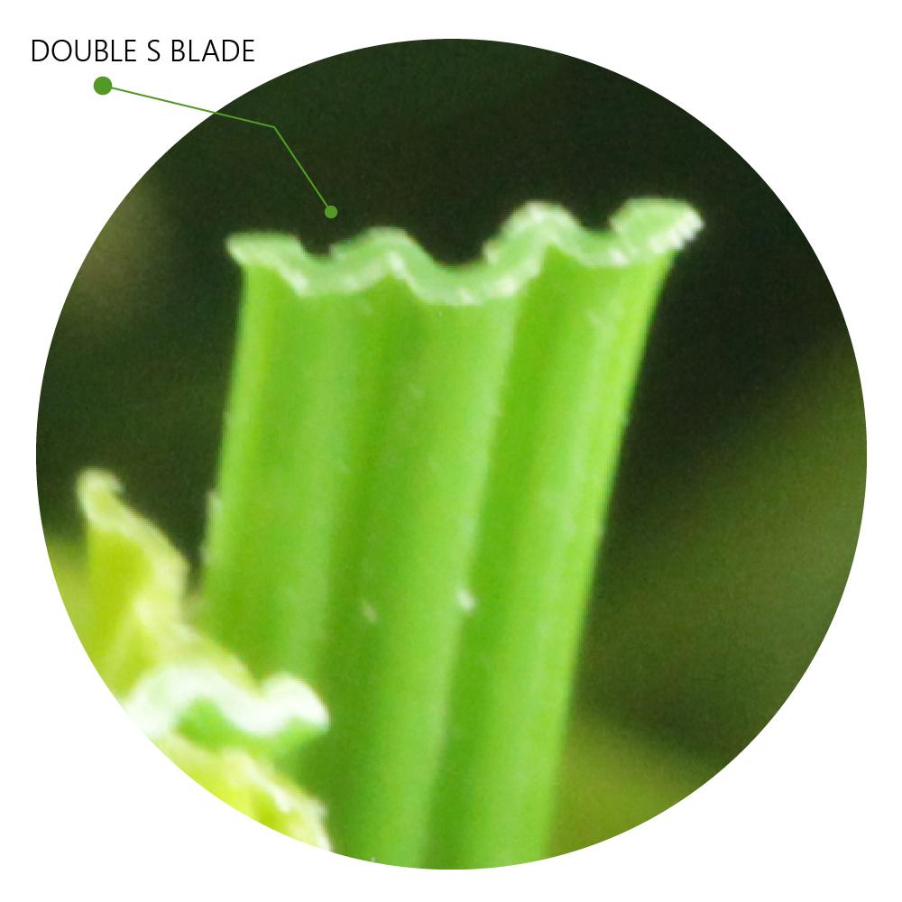 Double S Shape Blade artificial grass zoom fiber green grass leaf technology