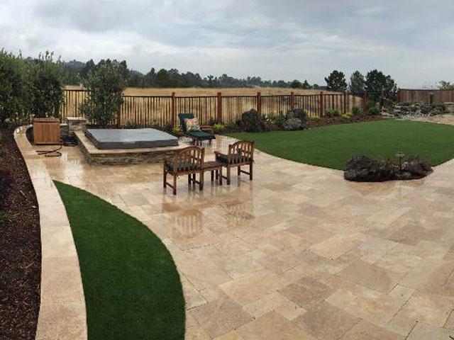 Backyard Landscaping Ideas Synthetic Grass Glendora, California