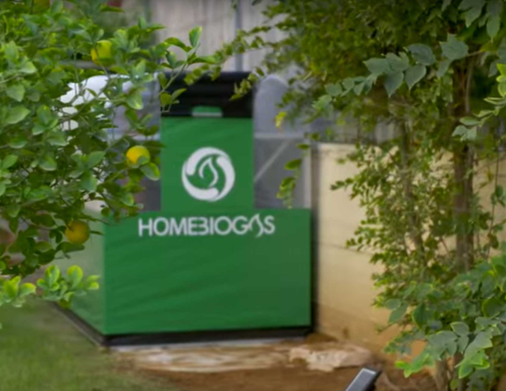 HomeBiogas in a back yard looks like a tent
